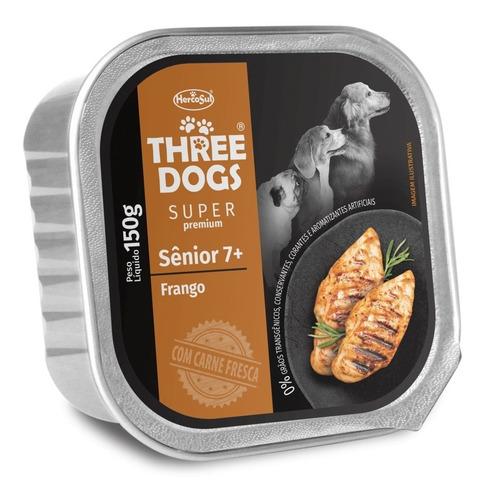 Pate Perro Three Dogs Senior Pollo 150 Grs