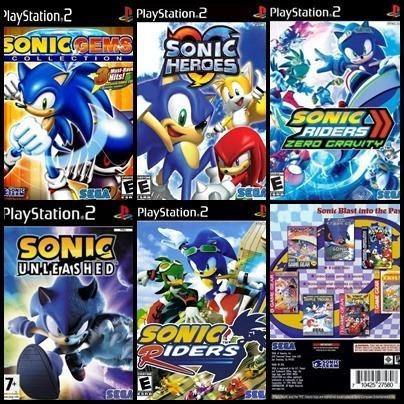 Ps2 - Sonic - 6 Dvds - Patch Desbloqueado