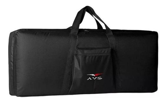 Capa Bag Teclado Luxo Acolchoado Avs 7/8 Yamaha Casio Roland