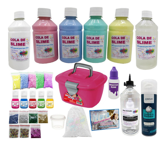 Kit P/fazer Slime O Mais Completo De Todos Valor Na Promoção