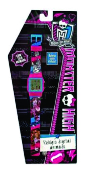 Relógio De Pulso Infantil Monster High Digital