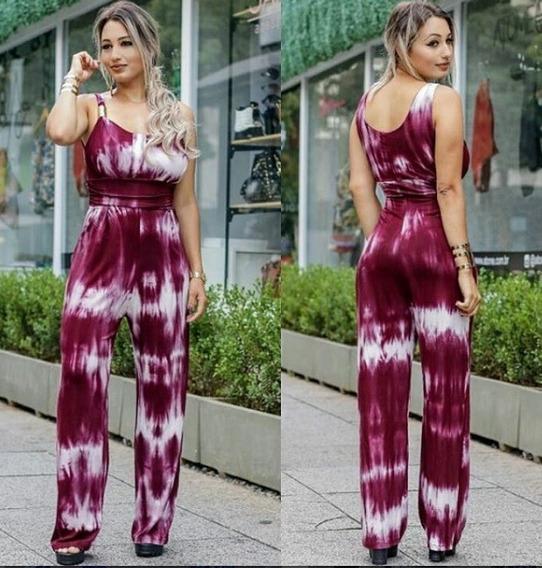 Macacão Fivela Ombro Tye Dye Lindo Lançamento Verão Top #cc