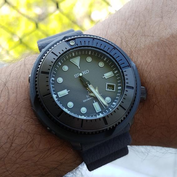 Relógio Seiko Street Series Tuna Solar Sne537 Ñ Turtle Skx