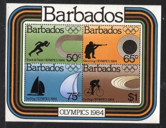 Barbados 1984 Juegos Olimpicoslos Angeles Hb Mint