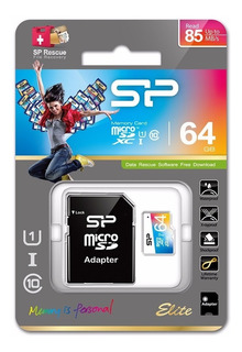 Cartão Micro Sd 64gb Class 10 Silicon Power Elite 85 Mb/s
