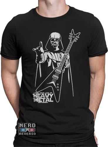 Camisetas Darth Vader Star Wars Metal Filmes