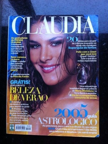 Revista Claudia - Jan/2005 - Priscila Fantin/elba Ramalho