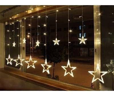 Luces Navidad Guirnalda Cascada Estrella Luz 138 Led 2 5mts Mercado Libre