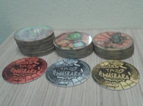 Lote Com 10 Tazos Coleção Elma Chips O Máskara Holográficos