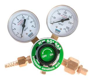 Regulador De Pressão Para Cilindro De Oxigênio W22 Wwsoldas