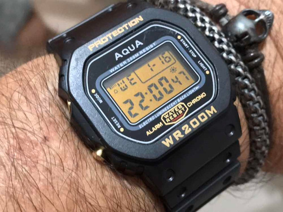 Aqua Gp477 Wr200m O Relógio Do Presidente Bolsonaro