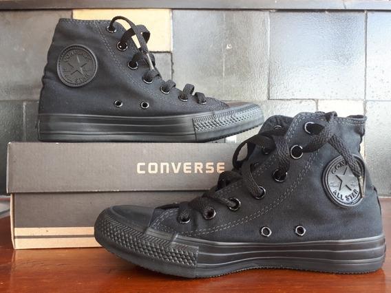 Botitas Converse Total Black Originales Nuevas Talle 6.5 Usa