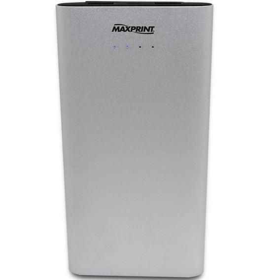 Power Bank Para Celular - 12000 Mah Maxprint Aluminio