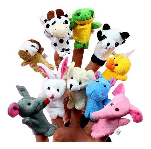 Set 10 Títeres De Mano Dedo Animales Juguete Teatro Infantil