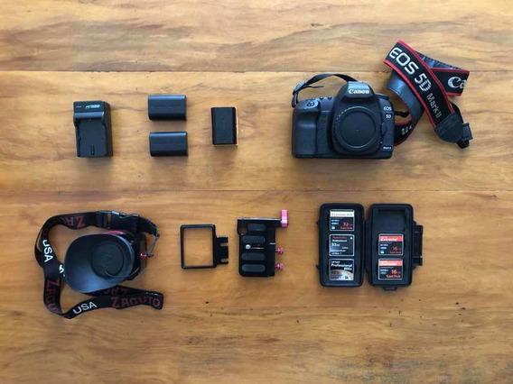 Kit Canon 5d Mark Ii + Flash 580ex Ii + Viewfinder + Cartoes