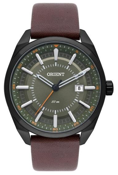 Relógio Orient Masculino Mpsc1007 E1nx Preto Verde Couro
