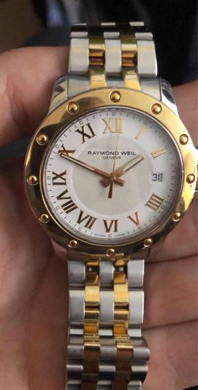 Reloj Raymond Weil Geneve Oro Chapeado Con Acero