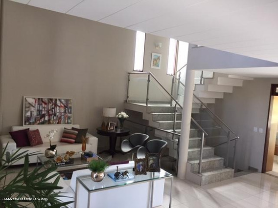 Casa Em Condomínio Mobiliada Para Venda Em Natal, Candelária, 4 Dormitórios, 3 Suítes, 7 Banheiros, 3 Vagas - _1-1147389