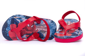 Sandalia Bebe Original Spiderman Hombre Araña 12-16