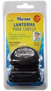 Lanterna De Cabeça 5 Leds Para Pescaria Emergência Camping