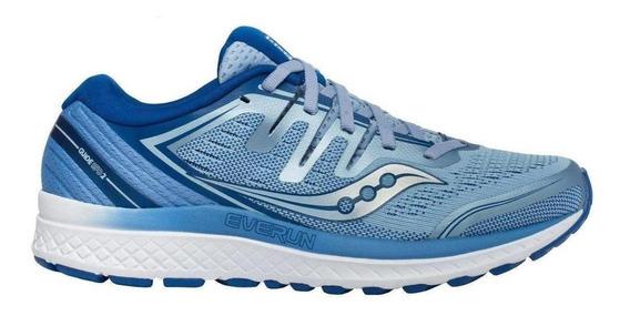 Tenis Running Saucony Guide Iso 2 Blue Dama - Run24