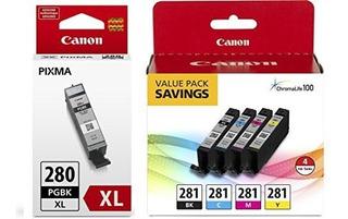 Canon Cli281 Bkcmy Paquete De Valor De Tanque De Tinta 4colo