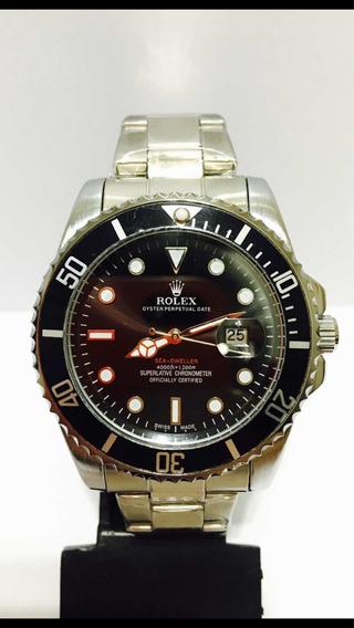 Relógio Silver Black Caixa Maior