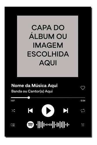 Imagem 1 de 5 de Placa Decorativa Interativa Música Spotify 15x21cm