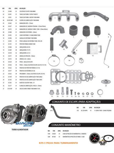 Kit Turbo F1000 F4000 Motor Mwm D229-4 225-4 226-4