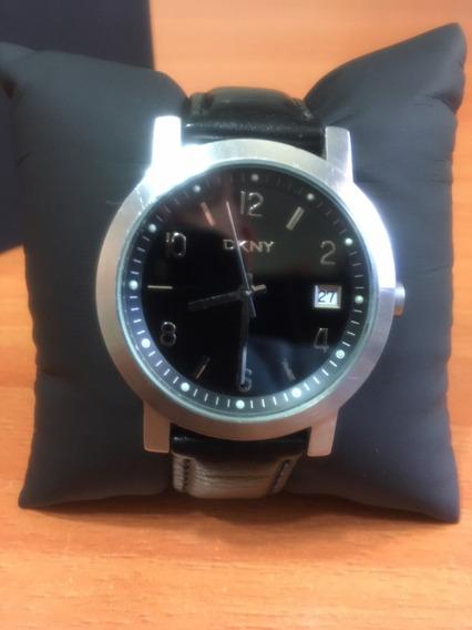 Reloj Dkny Ny-1059 Negro Caballero Correa Piel
