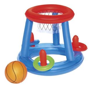 Aro De Basket Inflable Con Pelota Y Anillos 52190 Educando