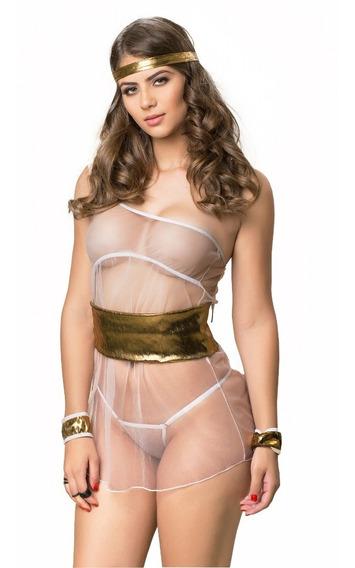 Fantasia Grega Sensual Erótica Sexy Feminina Intima Moda
