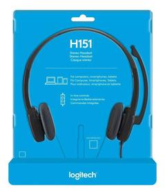 Logitech 3.5 Mm Analogâ Fone De Ouvido Estéreo H151 Com Mi
