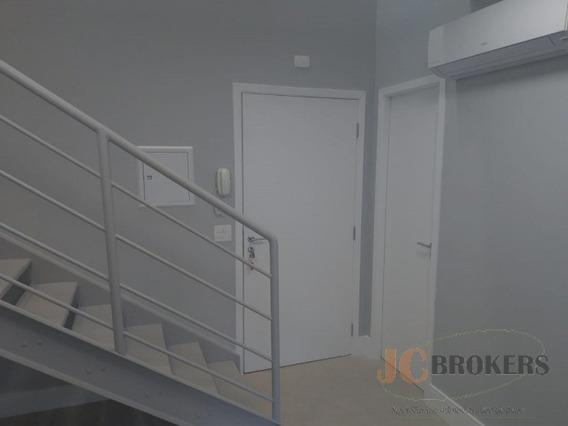 Sala Comercial Duplex Com 60m² De Área Útil, Excelente Acabamento, Ar Condicionado, 1 Vaga - Jc680