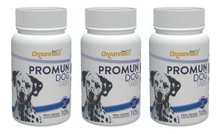 3 X Promun Dog Tabs 105g Organnact 105 G