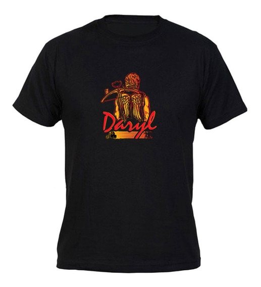Remera Walking Dead Daryl Hombre Negro Coleccion 1 Firefly