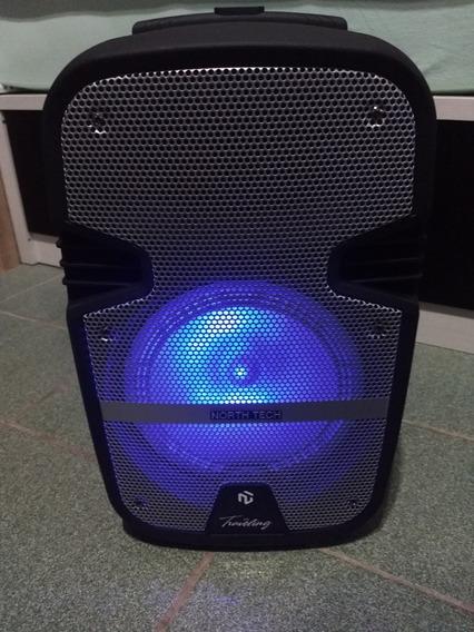 Caixa De Som Portátil Bluetooth 8 Polegadas North Tech