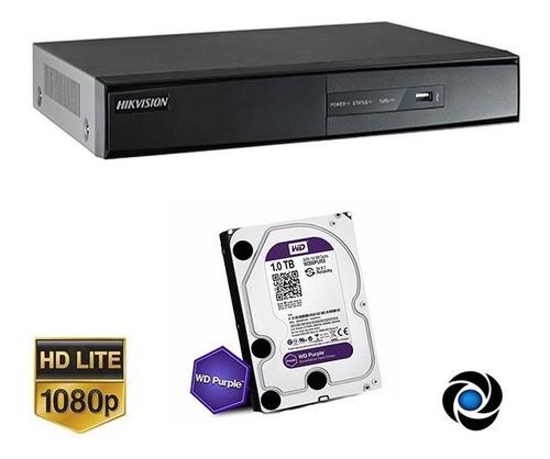 Dvr 8ch Hikvision 1080p Hd Tvi Cctv Hdmi Vga P2p + Disco 1tb