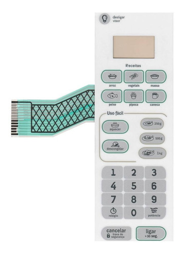 Imagem 1 de 1 de Membrana Teclado Microondas Consul Cma20 Cma 20