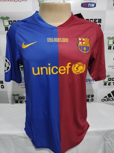 Camisa Barcelona Final Champions League 2009 Messi 10 Mercado Livre
