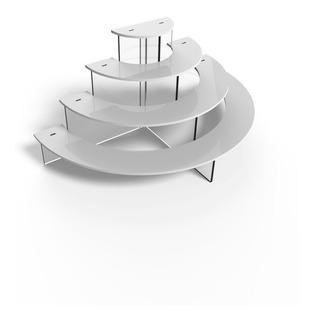 Tribuna Modelo Medio Circulo En Color Blanco - Ajidiseño