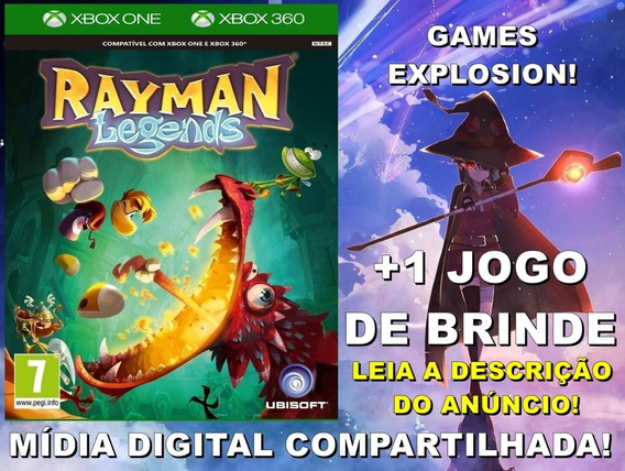 Rayman Legends Xbox 360/ One +1 Jogo - Mídia Digital