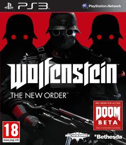 Game Ps3 Wolfenstein The New Order Original - Novo - Lacrado