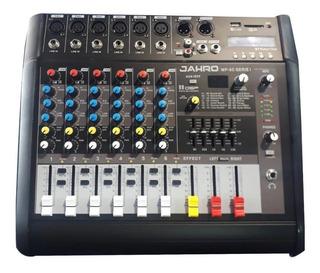 Consola Con Amplificador Entradas Micrófonos P/ 2 Bafles