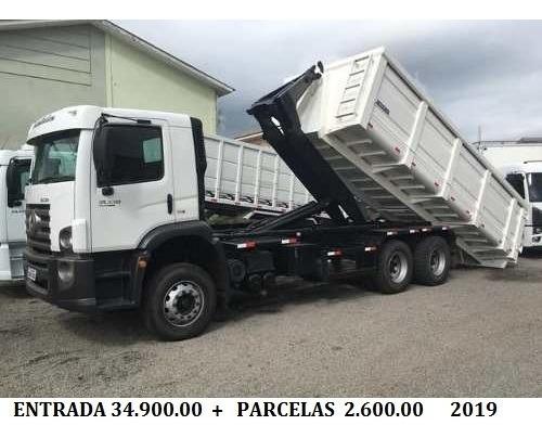 Vw 24280 6x2 2019 Rollon + Caçamba