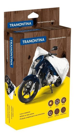 Capa Impermeavel Para Moto Tamanho G Tramontina