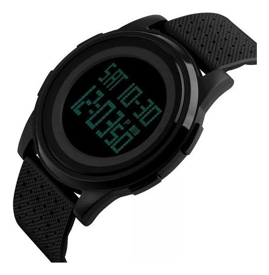 Relógio Skmei 1206 Preto Fino Leve 100% Original Promoção