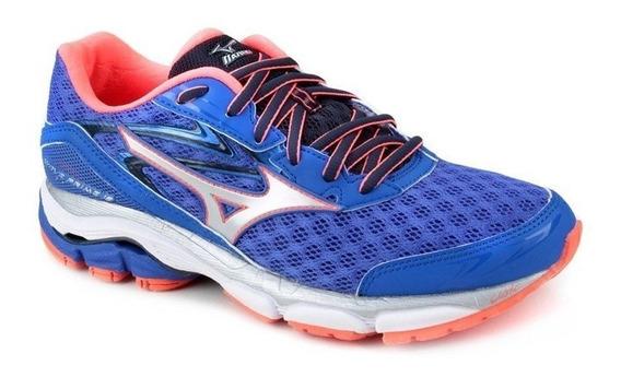 Tenis Mizuno Prime 12 Running 4135673 - Azul E Rosa