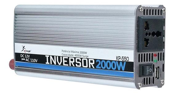 Inversor 2000w 110v Transformador Conversor Veicular Usb 12v