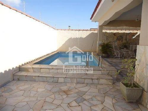Imagem 1 de 22 de Casa Com 3 Dormitórios, 236 M² - Venda Por R$ 750.000,00 Ou Aluguel Por R$ 3.500,00/mês - Ribeirânia - Ribeirão Preto/sp - Ca1295
